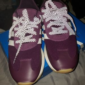 Purple Addidas Sneakers